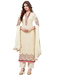 Mahiyar Charming Cream Embroidered Salwar Suit With Dupatta