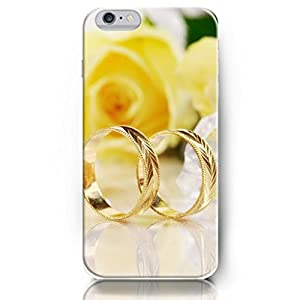 OUO Snap-On Protective Slim Fit Skin Cover 4.7 Inch Apple Gold Rings iPhone 6 Flower Case for Women