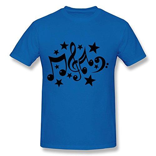 Wei-Jr Men'S Music Notes T-Shirt S