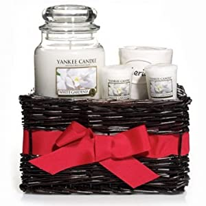 White Gardenia Candle Gift Basket By Yankee Candle (Floral)