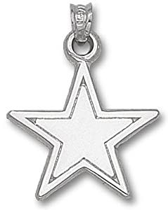 NFL Dallas Cowboys Sterling Silver Star Pendant (5/8-Inch)