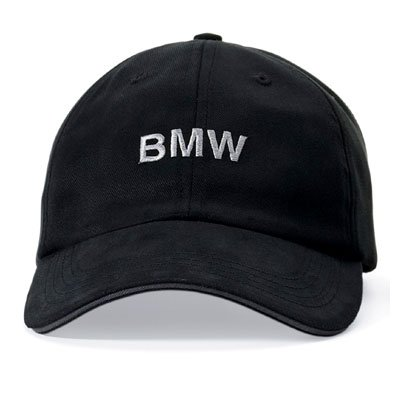 automotive apparel bmw black signature baseball cap