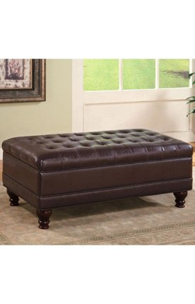 Leather Storage Ottoman Bench by Coaster Furniture