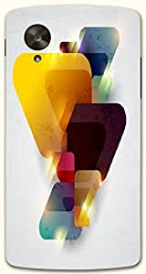 Outstanding multicolor printed protective REBEL mobile back cover for LG Nexus 5 / Google Nexus 5 D.No.N-T-1708-NX5