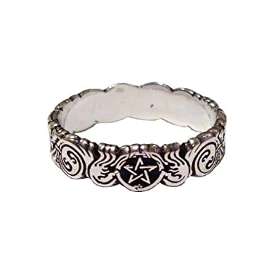 youre want to buy banshee guardian pentacle ring sterling silver wiccan pagan jewelry size 4 available in sz 4 12yes you comes at the right