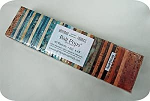 Hoffman 'Bali Pops' Blueberry Batik Cotton Fabric Strips