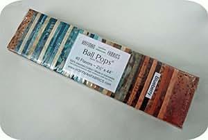 Hoffman 'Bali Pops' Blueberry Batik Cotton Fabric Strips