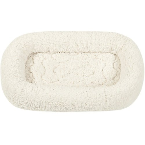 Jla Pet Beds 757136 Wave Stitched Bumper Crate Pad For Pets, 36X23-Inch, Ivory front-1035391