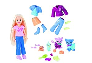 Polly Pocket Sparklin' Pets Bag Set - Dressin' to Show with Polly, 3 Pets (Bird, Cat and Dog) and Lots of Accessories at Sears.com