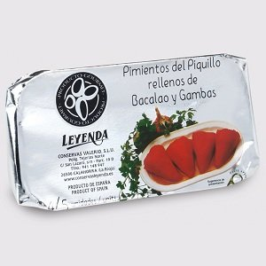 Leyenda-Piquillo Peppers with a cod and prawn stuffing 250g