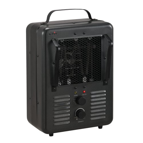 Fan Forced Utility Heater Milkhouse Style with Thermostat
