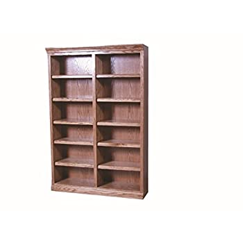 Forest Designs Mission Bookcase: 48W X 72H X 13D 72h Black Oak