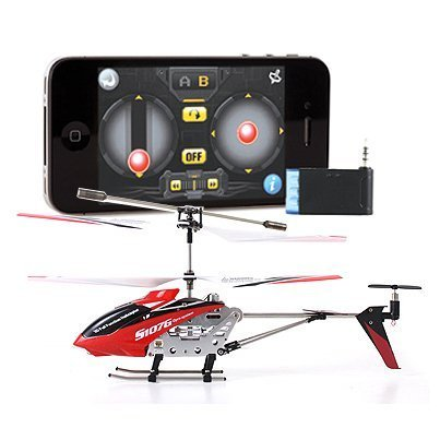 Iphone Controlled 3 Channel Rc Helicopter - iPhone iPad iTouch Controlled Syma S107 3 Channel RC Helicopter iCopter - Colors May Vary