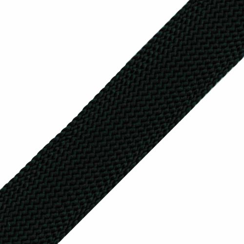 Venus Ribbon 1/2-Inch Polyester Foldover Braid, Black, 5 Yards