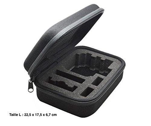 Malette de rangement/transport pour caméras SJCAM SJ4000 SJ5000 et GoPro - Taille L