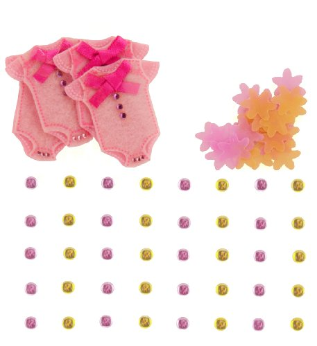Jolee's Boutique Dimensional Embellishments, Baby Girl Confetti and Gem Stickers (Jolees Gems compare prices)