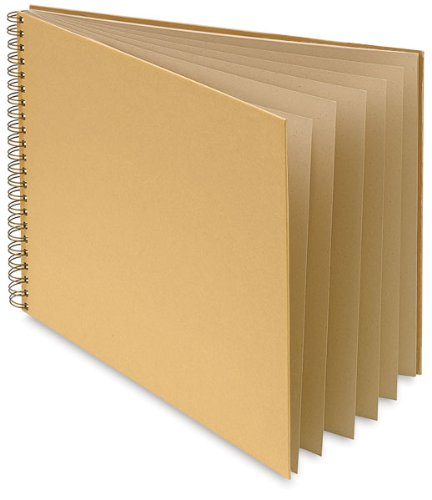 canson spiral bound scrapbooks 14 x 11 brown kraft cover w. Black Bedroom Furniture Sets. Home Design Ideas