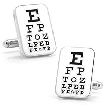 Cufflinks, Inc. Eye Chart Cufflinks (CC-EYE-SL)