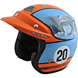 Troy Lee Designs Steve McQueen LE Open Face Helmet - Large/Blue/Orange