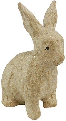 decopatch-figura-de-conejo-sentado-papel-mache-tamano-pequeno-color-marron