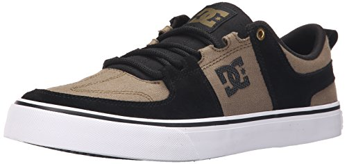 DC Men's Lynx Vulc SE Skate Shoe, Black/Military, 11 M US