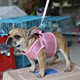 Alcoa Prime Breathable Mesh Pet Puppy Dog Walking Collar Chest Strap Harness Pink M