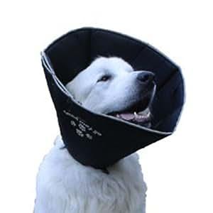 Comfy Cone Pet E-Collar, Large, Black