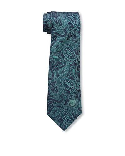 Versace Men's Silk Tie, Teal