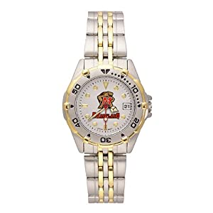 NCAA Maryland Terrapins Women's All Star Watch Stainless Steel Bracelet