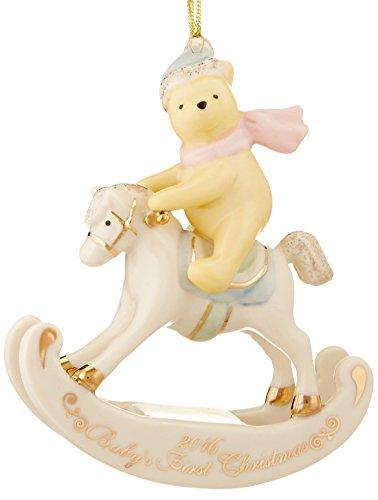 Baby Rocking Horse Ornaments - Lenox 2016 Winnie The Pooh Baby's 1st Christmas Ornament