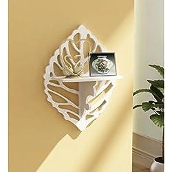 Onlineshoppee Beautiful Wooden Decorative Corner Wall Shelf Size LxBxH-12x5x15.5 Inch AFR1366