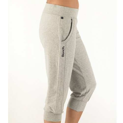 Bench Womens Flounder Jersey Cropped Pants Grey