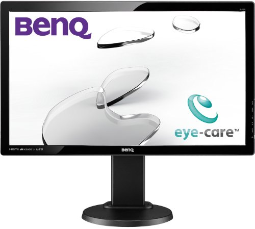 BenQ GL2450HT 61 cm (24 Zoll) Höhenverstellbarer LED-Monitor (Höhenverstellung 110mm, HDMI, DVI, VGA, 2ms Reaktionszeit, Lautsprecher, Pivot) schwarz