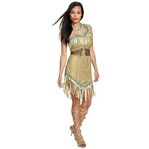 Pocahontas Women's Adult Prestige Indian Dress Costume (S) (Pocahontas Adult)