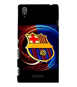 printtech Football Champion Team Back Case Cover for Sony Xperia T3
