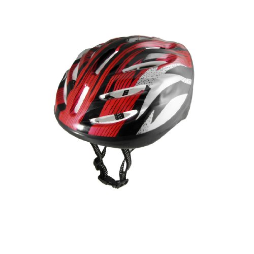 Como Man Women Red Black Strip Skateboard Bicycle Bike Cycling Skating Foam Helmet