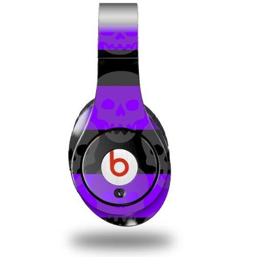 Skull Stripes Purple Decal Style Skin (Fits Original Beats Studio Headphones - Headphones Not Included)