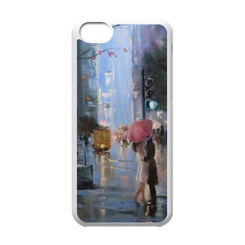 QNMLGB Hard Plastic of Oil painting Cover Phone Case For Iphone 5C [Pattern-5]