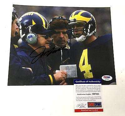 Jim Harbaugh W/ Bo Schembechler Signed Michigan Wolverines Photo Psa/dna Y67501