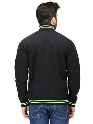 164423071 AWG Men's Premium Rich Cotton High Neck Hoodie Sweatshirt - Black