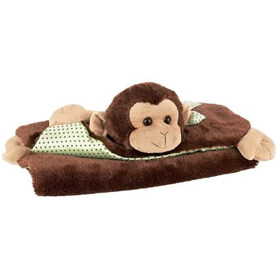 Bearington Bears Giggles Belly Blanket Monkey - 1