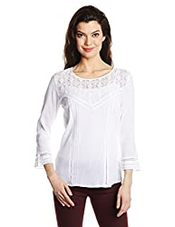 Anaphora Women Body Blouse Shirt (55910_White_Large)