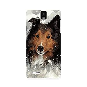 MOBICTURE Dog Premium Designer Mobile Back Case Cover For InFocus M330