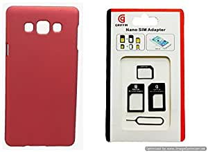 Toppings Hard Case Cover With Sim Adapter For Samsung Galaxy J7 - Red