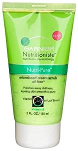 Garnier Nutritioniste Nutri-Pure Microbead Cream Scrub, 5-Ounce Tubes  (Pack of 3)