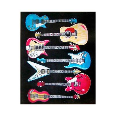 Guitar Fleece Blanket front-726917