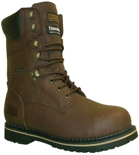 Men's McRae 8 inch Waterproof 400 Grams Thinsulate Ultra Insulated Work Boots, BROWN, 13M(D)