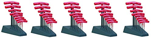 Bondhus 13389 Set of 8 Hex T-Handles with Stand, Sizes 2-10mm (5) (Tamaño: 5)