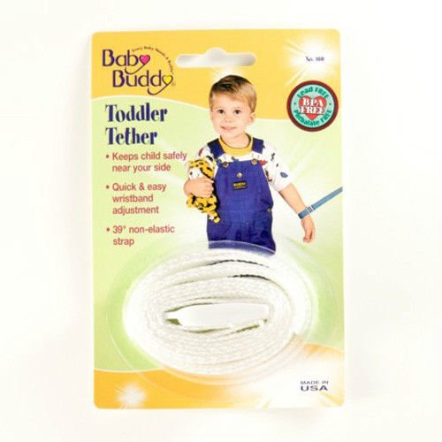 Baby Buddy Toddler Tether / Safety Wrist Leash / Wristband Strap - White front-417564