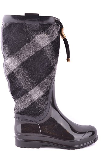 Burberry womens rubber rain boots lawson black